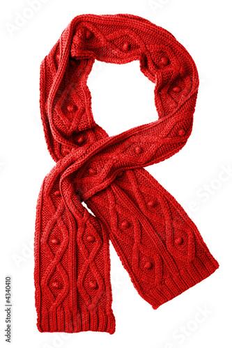 Fotografie, Obraz  Wool red scarf