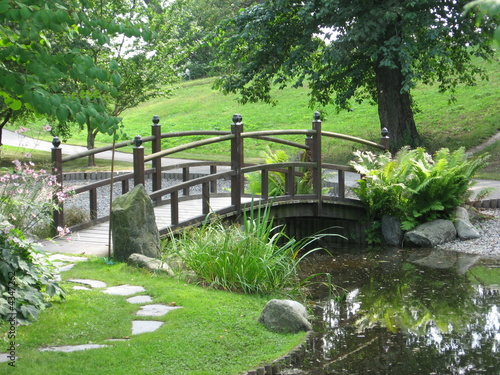 a bridge in japaneese garden - 4347262