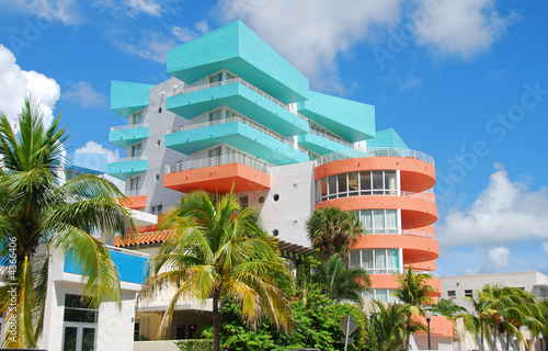 Photo  Art deco architecture in Miami Beach