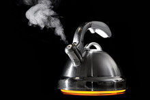 Tea Kettle With Boiling Water ...