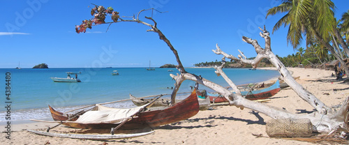 Fisherman boats in Andilana beach on Nosy Be island,Madagascar #4384480