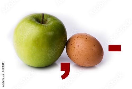 Photo  Apfel und Ei