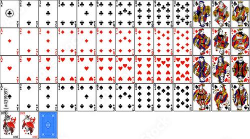 Obraz na plátně jeu de cartes