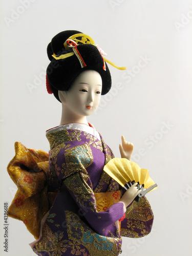 Printed kitchen splashbacks Indians Japanese Doll with Fan