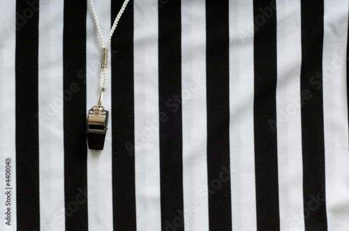 Fotografering  Referee Jersey and whistle