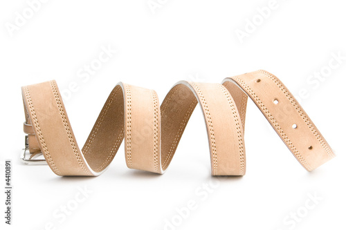 Beige leather belt 5 Canvas-taulu
