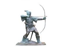 A Statue Of Robin Hood.