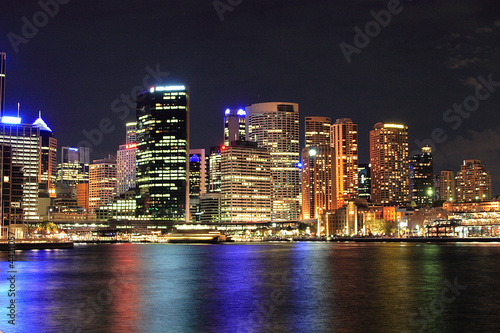 Foto-Flächenvorhang - Sydney - Hafen / Harbour at night (von Tobias Gueldner)