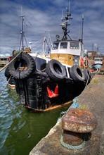 Tug In Fleetwood Fish Docks, Lancashire