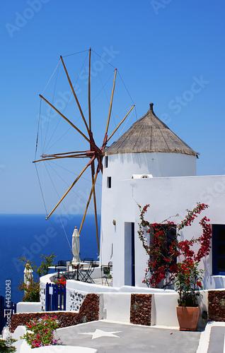 Foto-Kassettenrollo premium - Windmill on Santorini island