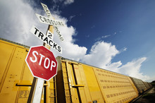 Train At Crossing