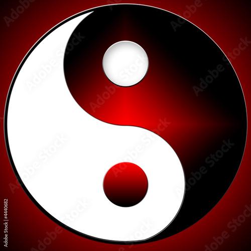 Doppelrollo mit Motiv - Yin-Yang (von MINEO Carole)