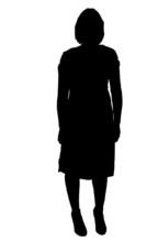 Woman In Dress Sihouette