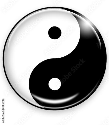 Doppelrollo mit Motiv - yin yang button