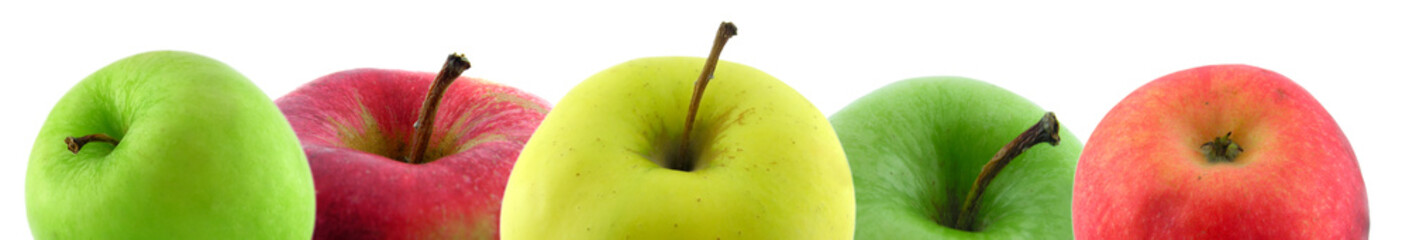 Multi-coloured apples.
