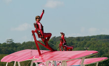 Wing Walkers Waving On Top Of ...
