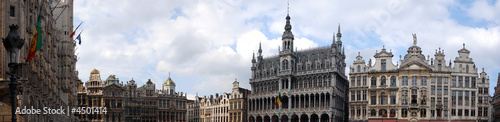Foto op Canvas Brussel Panorama grand place Brussels