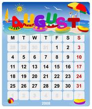 Calendar 2008 - August - Europe