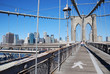 Leinwanddruck Bild Brooklyn Bridge in linking Manhattan and Brooklyn