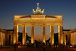 canvas print picture - Brandenburg gate