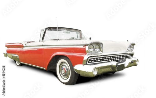 Stampa su Tela isolated american 50s car