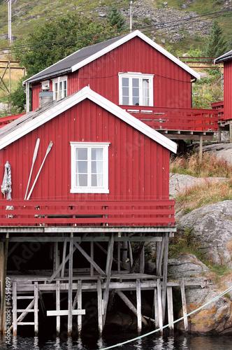Photo sur Toile Ville sur l eau Norwegian houses, Lofoten islands