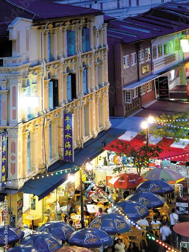 Chinatown by night, Singapore