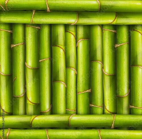 Foto-Schiebegardine ohne Schienensystem - Bamboo frame background (von Vivid Pixels)