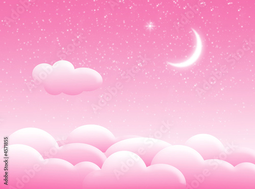Photo Stands Candy pink Nuvole nel cielo