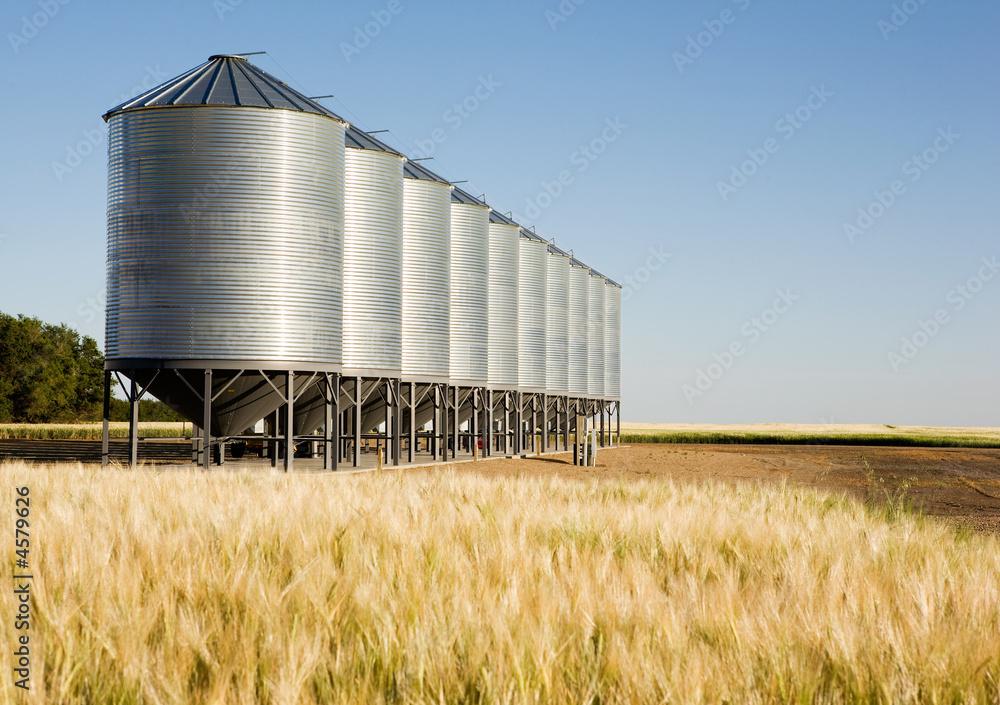 Fototapety, obrazy: Metal Grain Bin