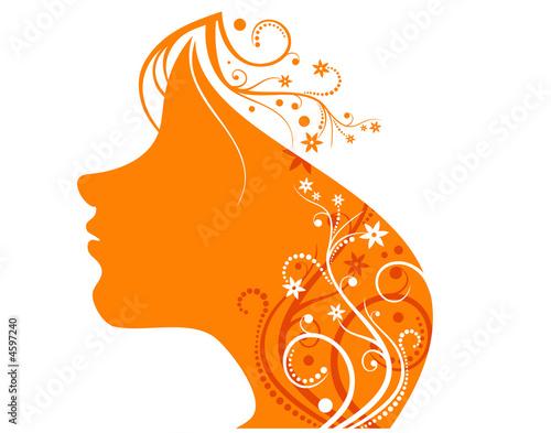 Floral femme orange girl