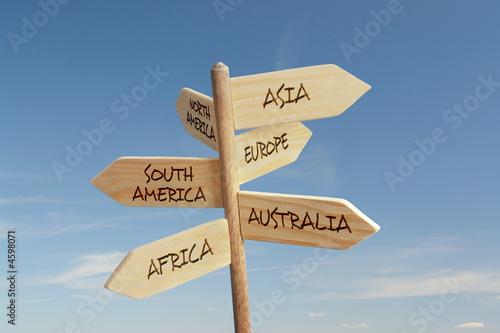 Fotografía  Six continent directions