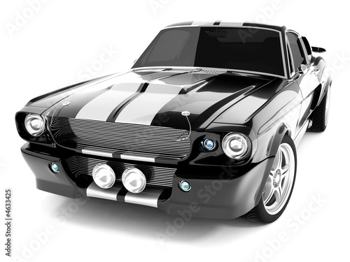 Fotografie, Obraz  Black Classical Sports Car