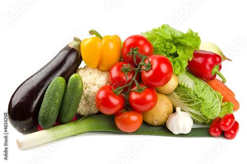 Fotografie, Obraz  Set of different vegetables isolated on white