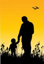 Un Enfant Et Son Père