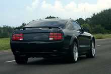 Black American Muscle Car On T...
