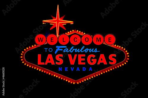 Spoed Fotobehang Las Vegas welcome to las vegas