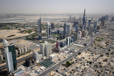 Sheikh Zayed Road In The UAE, Littered With Landmarks & Towers
