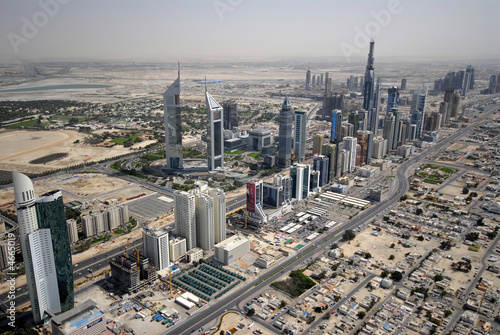 Sheikh Zayed Road In The U.A.E, Littered With Landmarks & Towers