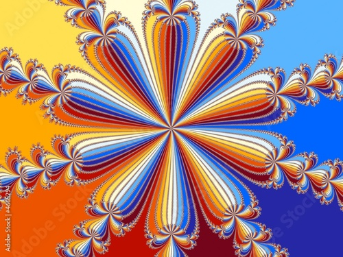 Poster Psychedelique Rainbow flower