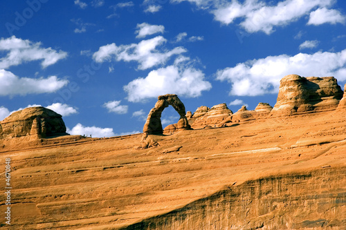Canvas Arches National Park Utah, view on delicate arch