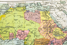 Old Map Of North Africa - Egypt