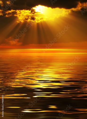 Foto-Kissen - Solar beams (von V. Yakobchuk)