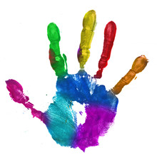 Multicolor Hand Print