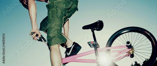 Teenage Boy on BMX bike