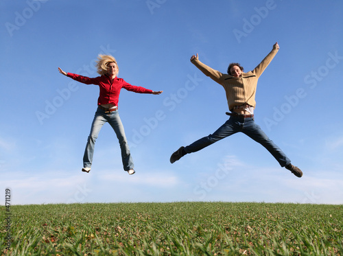 Photo Happy jumpers