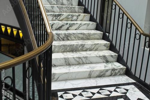 Photo sur Aluminium Escalier Detail einer eleganten Treppe