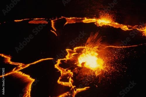 Staande foto Vulkaan Erta Ale