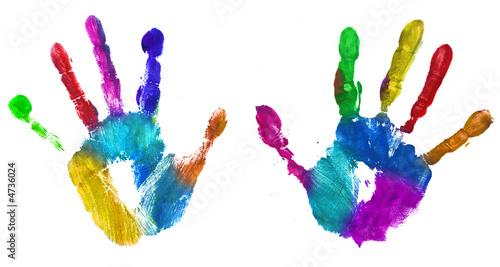 Fotografija  multicolor hands print