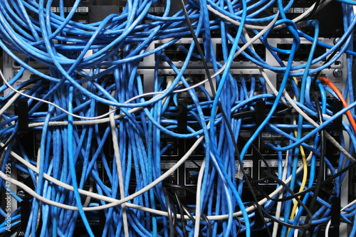 Obraz na plátně  computer network